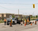Expand photo of TM3 crew installing traffic signals