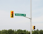Expand photo of traffic signal at Steeles Ave.
